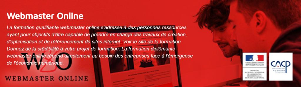 Formation Webmaster Online - AndilCampus